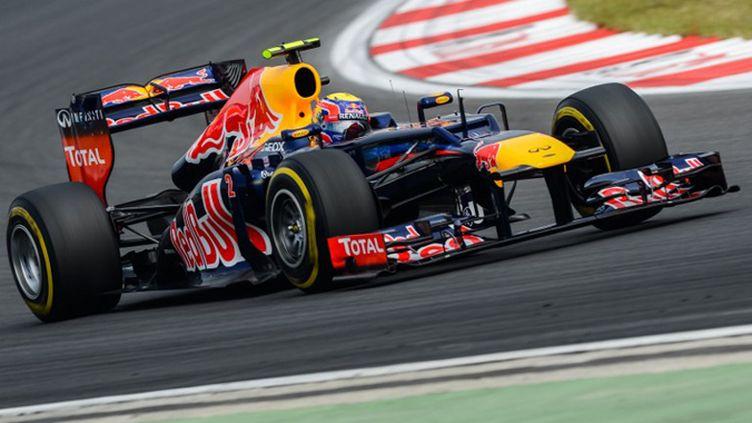 Mark Webber (Red Bull) a décroché la pole en Corée du Sud (PHILIPPE LOPEZ / AFP)