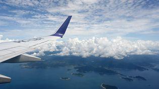 Un avion survole l'Indonésie, le 27 novembre 2018. (ADEK BERRY / AFP)