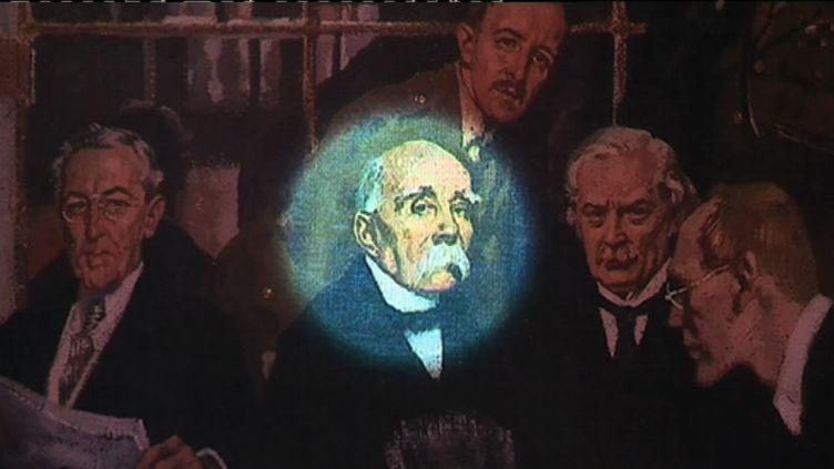 Au centre Georges Clemenceau, signataire pour la France du Traité de Versailles (J. Vasco France 3 Nord Pas-de-Calais)