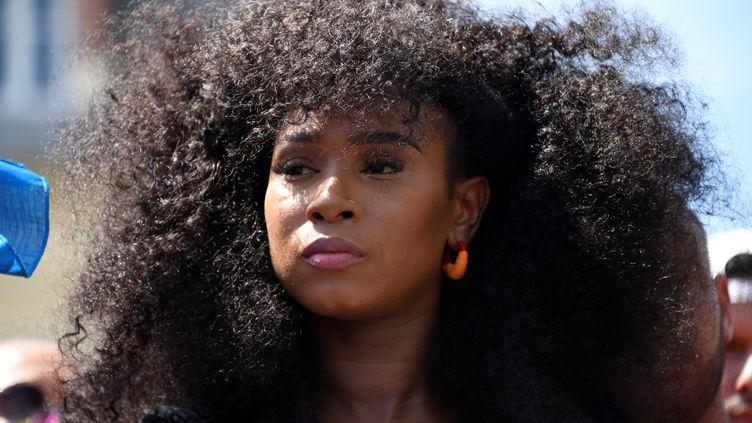 Assa Traoré, en juillet 2020. (BERTRAND GUAY / AFP)