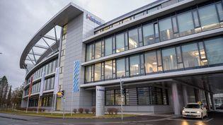 L'établissement bavarois dans lequel est hospitalisé le premier cas confirmé de personnes infecté par le nouveau coronavirus, à Stockdorf (Allemagne), le 28 janvier 2020. (PETER KNEFFEL / DPA / AFP)