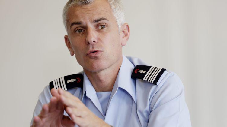 Le colonel Gregory Allione en 2014. (SPEICH FR?D?RIC / MAXPPP)