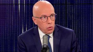 Eric Ciotti, député des Alpes-Maritimes et candidat à la présidentielle au congrès Les Républicains, était l'invité de franceinfo mercredi 27 octobre 2021. (FRANCEINFO / RADIO FRANCE)