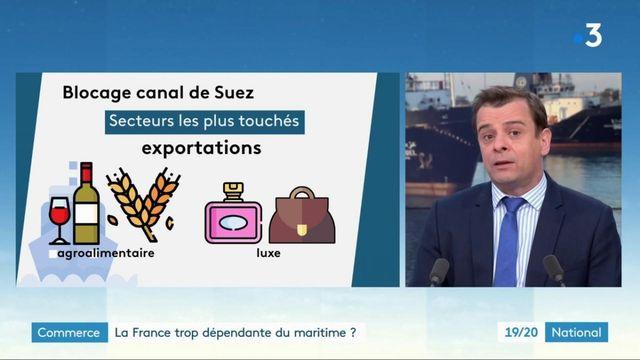 Blocage d'un cargo dans le canal de Suez : quelles conséquences en France ?