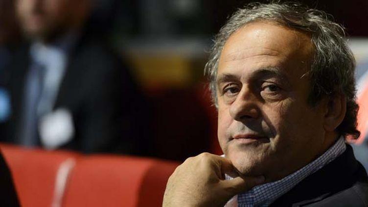 (Michel Platini soutient l'adversaire de Sepp Blatter pour la présidence de la Fifa © MaxPPP)