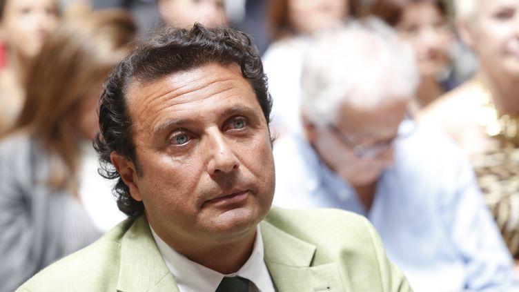 "L'ancien capitaine du ""Costa Concordia"",Francesco Schettino, le 10 juillet 2014 à Rome (Italie). (MARIO SCILLA / CONTROLUCE)"