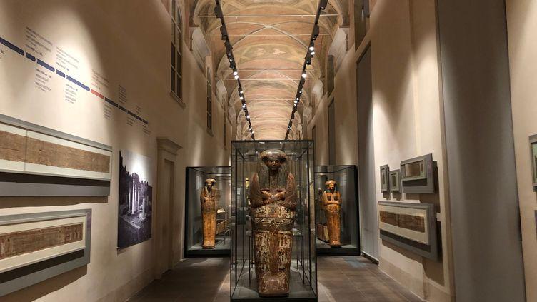 Le musée égyptien d Turin, l'un des plus visités d'Italie, est fermé au public depuis près d'une semaine. (MATTHIEU MONDOLONI / FRANCEINFO)