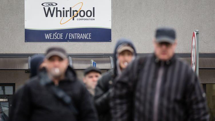 Usine Whirlpool à Lodz, en Pologne, en avril 2017. (WOJTEK RADWANSKI / AFP)