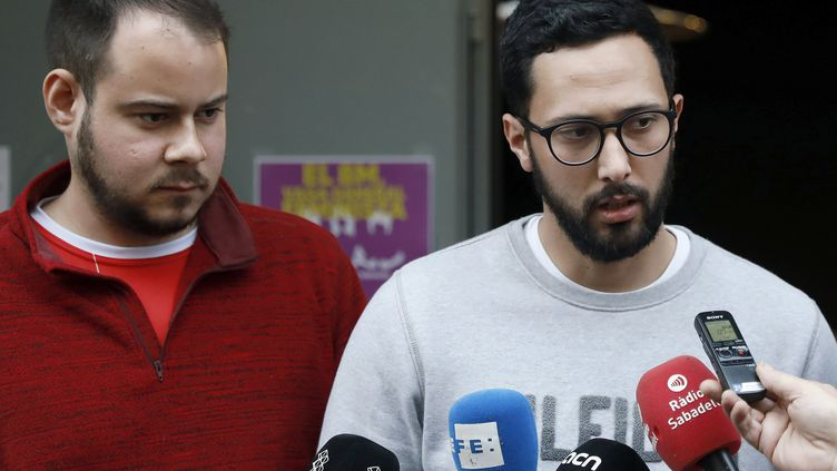 Les deux rappeursValtonyc etPablo Hasel, condamnés à des peines de prison ferme en Espagne. (MAXPPP)