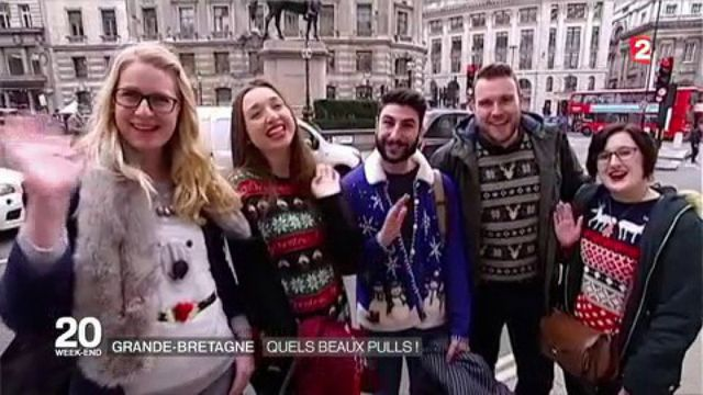 Les pulls de Noël, une tradition britannique