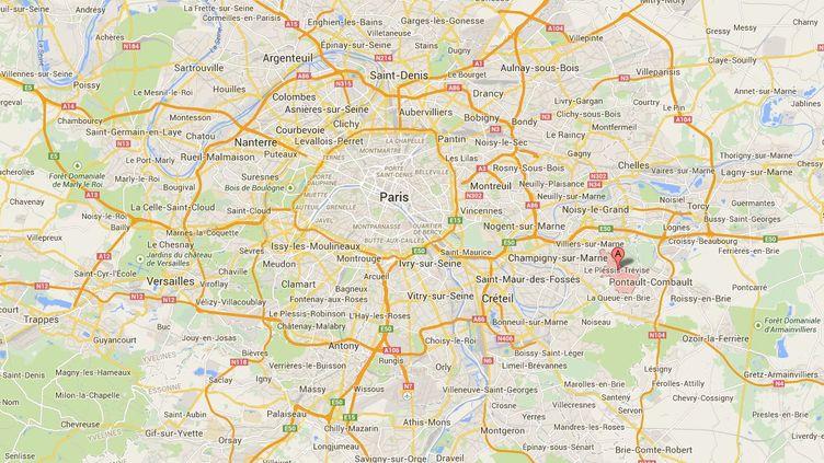 """Une jeune femme enceinte de cinq mois et demi a été violemment agressée, le 4 décembre 2014, au Plessis-Trévise (Val-de-Marne), rapporte """"Le Parisien"""". (GOOGLE MAPS)"""
