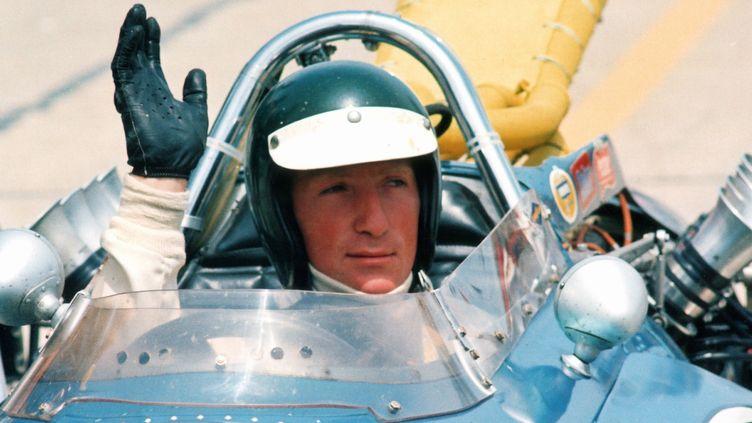 Le pilote autrichienJochen Rindt sur le circuit d'Indianapolis (États-Unis). (MAXPPP TEAMSHOOT)