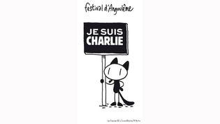 """La mascotte """"du festival d'Angoulême est Charlie elle aussi.  (Lewis Trondheim/9eArt+)"""