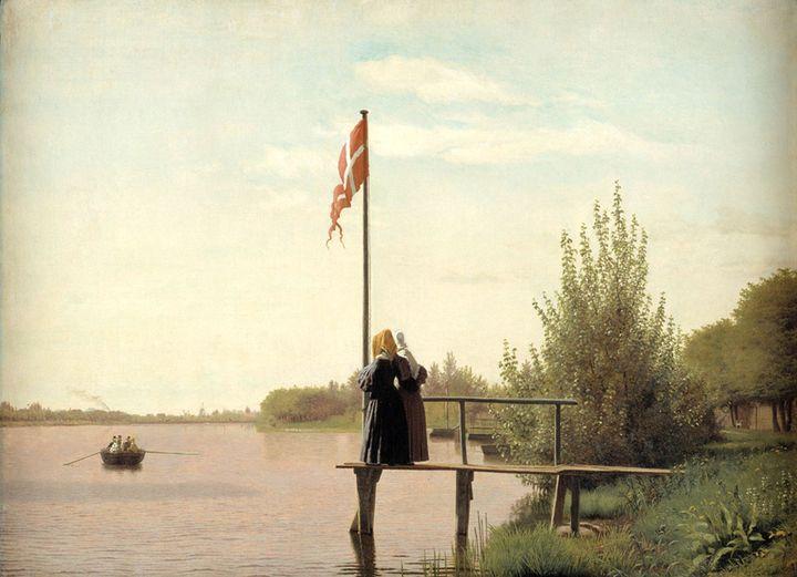 "Christen Købke (1810-1848), ""Vue de Dosseringen"", 1838, Copenhague, Statens Museum for Kunst (© SMK Photo/Jakob Skou-Hansen)"