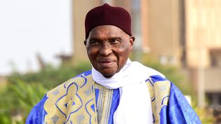 L'ancien président sénégalais Abdoulaye Wade à Dakar le 10 juillet 2017. Agé aujourd'hui de 92 ans, il a dirigé son pays de 2000 à 2012.  (SEYLLOU / AFP)