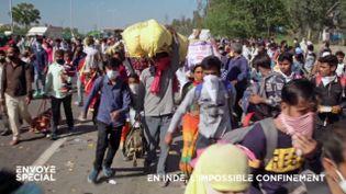 En Inde, le confinement provoque un exode massif… qui risque de répandre le coronavirus dans tout le pays (ENVOYÉ SPÉCIAL  / FRANCE 2)