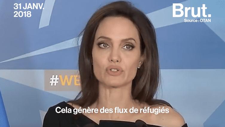 Devant l'OTAN, Angelina Jolie dénonce le viol comme arme de guerre (BRUT)