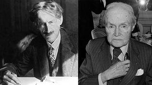 Deux écrivains, témoins de la Grande Guerre (montage) : Henri Barbusse (G),Maurice Genevoix (D). (AFP / GEORGES BENDRIHEM / AFP)