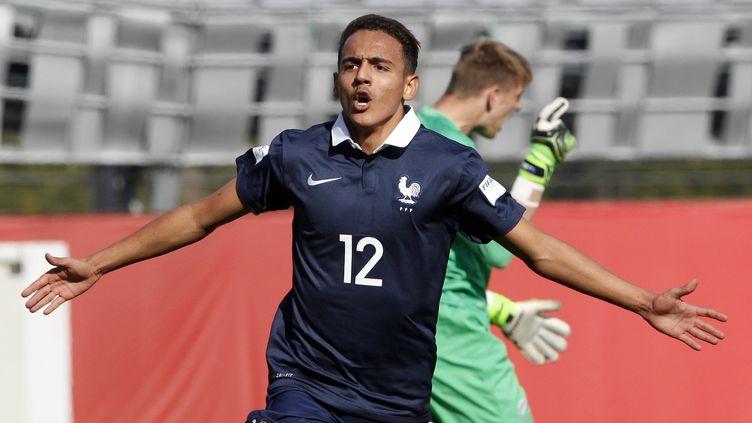 Bilal Boutobba avec la sélection française des moins de 17 ans, lors de la Coupe du monde au Chili.  (SERGIO PINA / PHOTOSPORT)