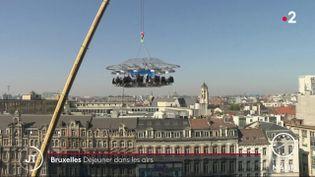 Un repas dans les airs à Bruxelles (FRANCE 2)