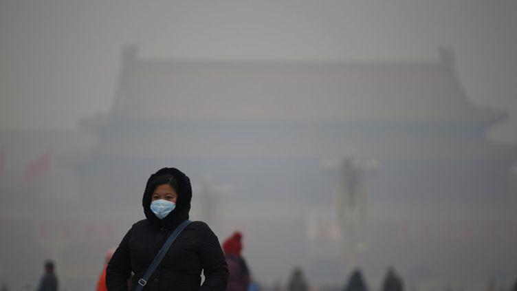 (Les habitants de Pékin portent très souvent des masques pour ne pas respirer l'air pollué © Reuters-Kim Kyung Hoon)