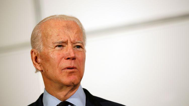 Le candidat démocrate à la présidentielle Joe Biden, àNorth Charleston (Etats-Unis), le 26 février 2020. (ELIZABETH FRANTZ / REUTERS)