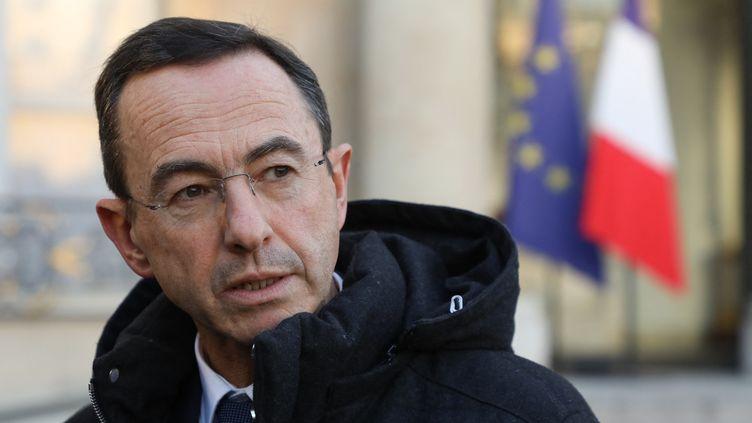 Bruno Retailleau, président du groupe Les Républicains au Sénat, à l'Elysée le 5 février 2019. (LUDOVIC MARIN / AFP)