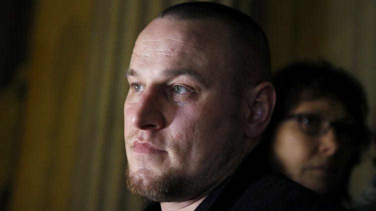 Marc Machin, le 20 décembre 2012, après avoir été acquitté du meurtre de Marie-Agnès Bedot. (PIERRE VERDY / AFP)
