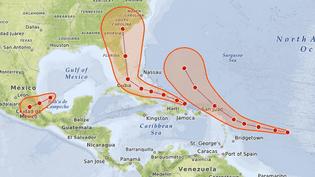 Irma, José, Katia : quels vont être les trajectoires des ouragans dans les jours à venir (NICOLAS ENAULT / CARTO)