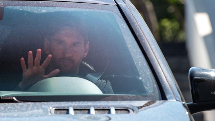 Lionel Messi de retour à l'entraînement à Barcelone après son vrai-faux départ (STRINGER / AFP)