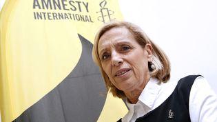 Geneviève Garrigos, laresponsable Amérique à Amnesty international, à Paris le 23 février 2016. (PATRICK KOVARIK / AFP)