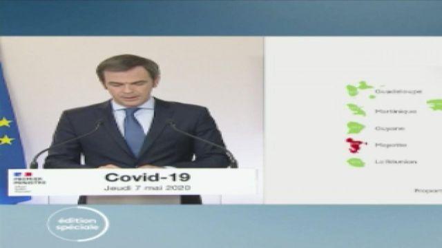 Olivier Veran présente les cartes et les trois indicateurs face à l'épidémie