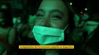 Une Argentine ravie que son pays aitlégalisé l'IVG (FRANCEINFO)