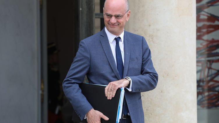 Le ministre de l'Education nationale, Jean-Michel Blanquer à l'Elysée, le 7 mai 2019. (LUDOVIC MARIN / AFP)