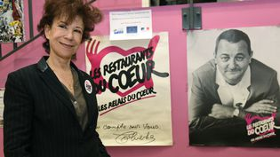 Véronique Colucci, lors du lancement de la 32e campagne d'hiver des Restos du Cœur, à Paris, le 22 novembre 2016. (BERTRAND GUAY / AFP)