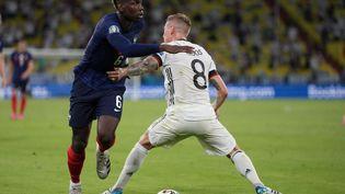 Le milieu de terrain Paul Pogba a été l'un des principaux artisans de la victoire française lors de France - Allemagne (1-0), mardi 15 juin 2021. (MATTHIAS SCHRADER / POOL)