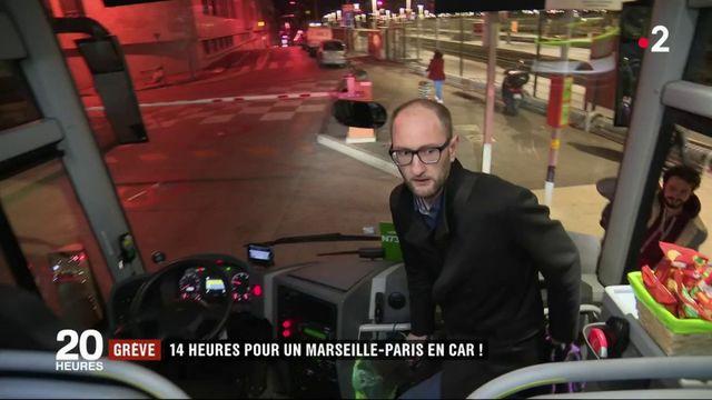 Grève à la SNCF : 14 heures de bus pour un Marseille-Paris