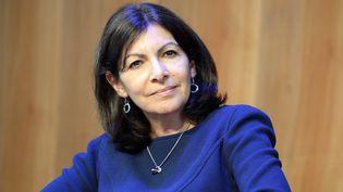 La maire de Paris, Anne Hidalgo, donne une conférence de presse à Paris, le 30 mai 2016. (BERTRAND GUAY / AFP)