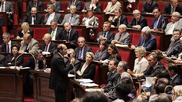 Le ministre du Travail Eric Woerth lance le débat sur les retraites, à l'Assemblée, le 7 septembre 2010. (AFP - Jacques Demarthon)