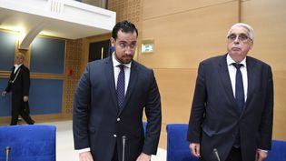Alexandre Benalla lors de son audition parlementaire au Sénat, à Paris, mercredi 19 septembre 2018. (BERTRAND GUAY / AFP)