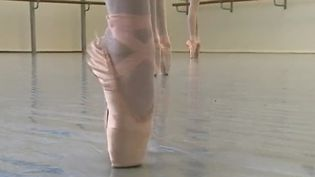 """Les """"pointes"""", ces chaussons de danse classique, sont apparues au 19e siècle. Aujourd'hui, elles font partie du quotidien des ballerines. (France 2)"""