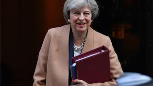 La Première ministre Theresa May, le 15 mars 2017 à Londres (Royaume-Uni). (BEN STANSALL / AFP)
