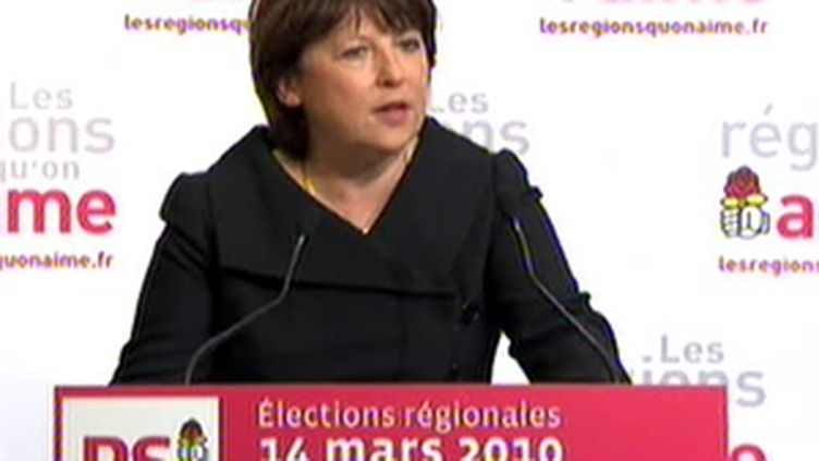 Martine Aubry, le 14 mars 2010