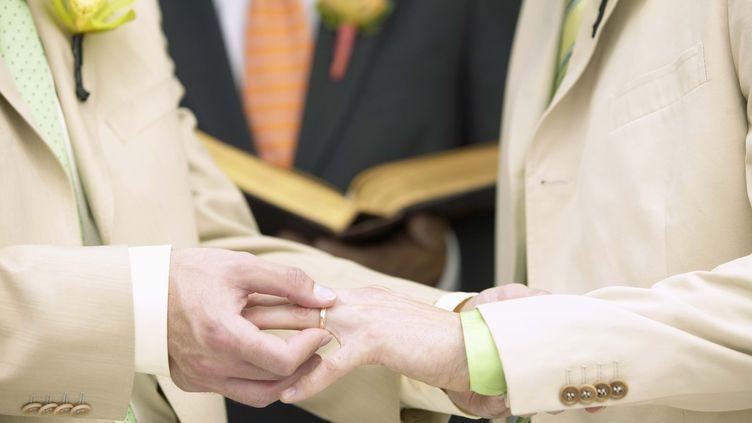 Selon un sondage BVA réalisé en janvier 2012, 63% des Français sont favorables au mariage homosexuel. (JUPITERIMAGES / COMSTOCK IMAGES)