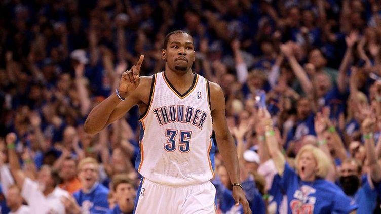 Kevin Durant (Oklahoma City Thunder) affole la NBA (RONALD MARTINEZ / GETTY IMAGES NORTH AMERICA)