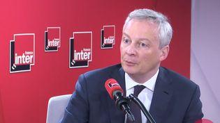 Le ministre de l'Économie Bruno Le Maire invité de France Inter, le 9 mars 2020. (FRANCE INTER / RADIO FRANCE)