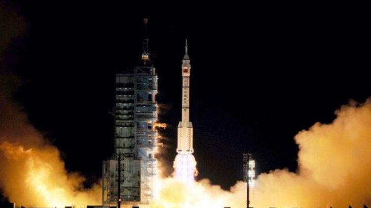 Lancement du vaisseau Shenzhou VIII, du désert de Gobi. (Sun zifa / Imaginechina)