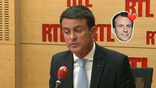 Manuel Valls, mardi 9 mai 2017, dans le studio de RTL. (RTL)