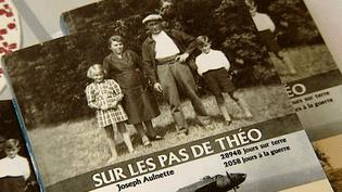 """Couverture de """"Sur les pas de Théo"""" écrit par Joseph Aulnette  (France3/Culturebox)"""