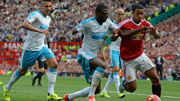 Buteur cette semaine en Ligue des Champions, Memphis Depay est resté muet face à Newcastle cet après-midi (OLI SCARFF / AFP)